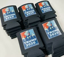 Trump 2020 KooZies Lot 25 Black Can Cooler Coozie