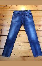 """Vendita! NUOVA con etichetta REPLAY ANBASS da Uomo Slim Tapered Jeans Sbiaditi 29"""" x 30"""" 10.5oz Indaco"""