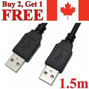 1.5m USB to USB Extension Cable 2.0 Male to Male Data Charger Charging Extender