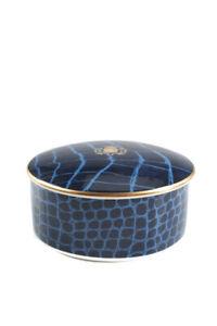 Domenico Vacca By Prouna Alligator Sapphire 2 Piece Jewelry Box Bone China
