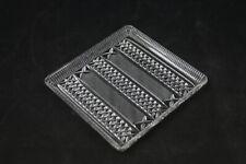 Antiguo Plato para Tartas Placa de Vidrio Vintage Cocina 20cm x