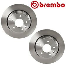 Pair Set of 2 Rear Vented Disc Brake Rotors 305 mm Brembo For Jaguar XJ8 XJR XK8