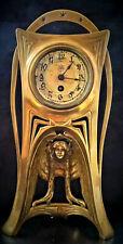 Art Nouveau Junghans Jugendstil Engel Sonne mit Davidstern Antike Tischuhr 1900