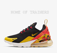 Nike Air Max 270 SE Floral Black Bright Crimson Gold Girls Women's Trainers