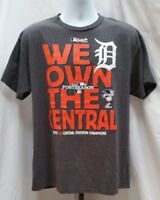 Pre-owned Majestic Detroit Tigers 2013 Postseason Gray T Shirt Size L MLB B162