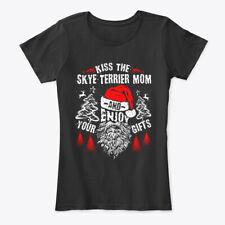 Kiss The Skye Terrier Mom Christmas Women's Premium Tee T-Shirt