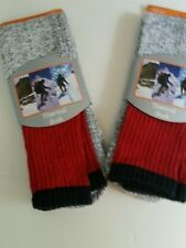 MEN 'S THERMAL GRAY BOOT SOCKS/RED TOP SIZE 10-13