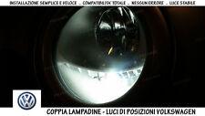 """COPPIA LAMPADINE LED BIANCO GHIACCIO POSIZIONI """"VOLKSWAGEN PASSAT CC"""" 2008-2011"""