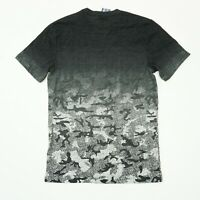 American Rag Mens Tee Printed Ombre Camouflage T Shirt Black Gray Grey Camo