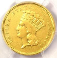 "1854-O Three Dollar Indian Gold Coin $3 - PCGS XF Details (EF) - Rare ""O"" Mint!"