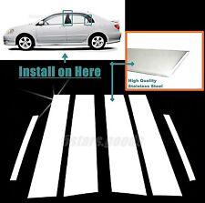 Stainless Steel Chrome Door Pillar Post Trims For Toyota Corolla Sedan 2003-2008