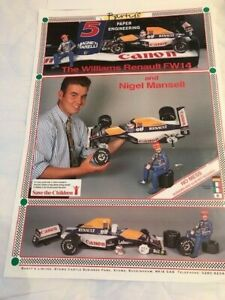 F1 Williams Renault FW 14 Push Out Card Construction Kit