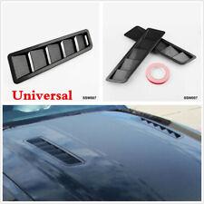 One Pair 2Pc Universal Car SUV Hoods Vents Louver Panel Trim Carbon Fiber Look