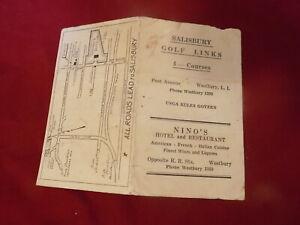 1920's Salisbury Golf Links Westbury NY Golf Scorecard
