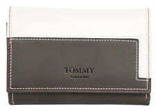 White-Brown genuine leather wallet Tommy Barbados. Fast world shippment.