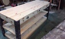 console de magasin desserte présentoir bois massif table de drapier
