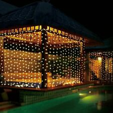 300 LED Warm White Curtain Fairy Lights Indoor Outdoor Wedding Christmas Decor