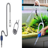 Aquarium Siphon Water Suction Pump Pipe Aspirator Fish Tank Cleaner Supplies