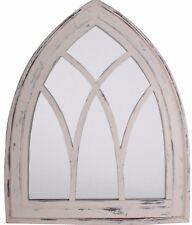 Esschert Design Spiegel Gothic Shabby Chic Antik Look weiß Fensterspiegel WD 10