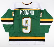 Mike Modano Signed Minnesota NorthStars Jersey (Schwartz COA) 1988 #1 Draft Pick