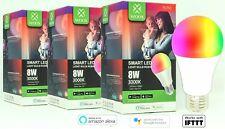 3x WOOX R4553 Smart Lampe E27, 8W entspricht 60W, 2,4GHz WLAN, Alexa+Google Home