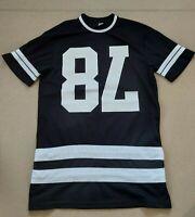 H&M Men's Short Sleeve Round Neck Black Sport Style Sweat T.Shirt Size XS