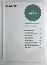Sharp Model Ar-Fx4 Facsimile Expansion Kit Operation Manual