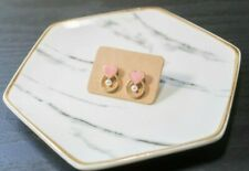 Handcrafted Elegant Korean Style Dangling Earring Heart for Women (Pink)
