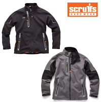 Scruffs Pro Softshell CHARCOAL | BLACK Jacket Waterproof Technical Work Coat