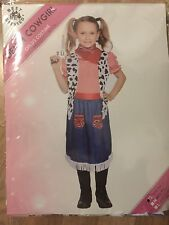 Jesse Cow Girl Dress Costume Child One Size Waistcoated dress and scarf
