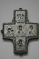 2 russian orthodox  big cross with icons for car window or dashboard