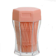 Orange Wooden Transparent Toothpick Holders With 200 Pcs Double Toothpicks G