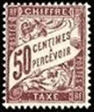 """FRANCE STAMP TIMBRE TAXE N° 37 """" TYPE DUVAL 50c LILAS """" NEUF x TB"""