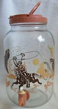 vintage western themed ice tea jar with spout