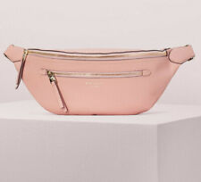 NWT Kate Spade Polly Large Belt Bag Flapper Pink Pebbled Leather PXRUA365 $248
