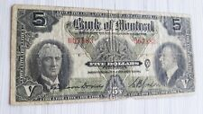 1938 Bank of Montreal $5 Five Dollar Banknote