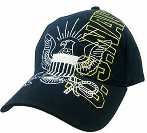 US Navy Anchor Seal Vertical Name Embroidered Hat Adjustable Buckle Cap New gift