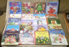 "Lot 20 CHRISTMAS WINTER Children's 8"" Square Picture Books Stories Scholastic #2"