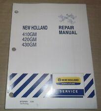 Ford New Holland 410gm 420gm 430gm Flex Finish Mower Service Shop Repair Manual