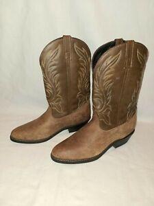 Laredo Kadi 5742 Size 10 M Ladies Womens Distressed Brown Leather Cowboy Boots