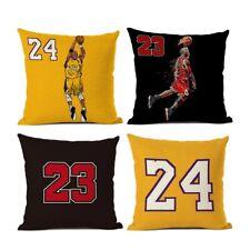 Michael Jordan Kobe Bryant Pillow Case Cover #23 #24 Basketball Dunks Pillow