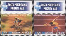 San Marino 2002 Priority Mail/Sports/Cycling/Bike/Hurdling/Athlete 2v set n45991