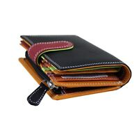 Ladies Multicoloured Purse Wallet for Women Nappa Leather RFID & Gift Bag