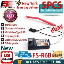 5x FlySky FS-R6B 2.4Ghz 6CH Receiver for TH9X FS-CT6B FS-T6 TX US Transmitter