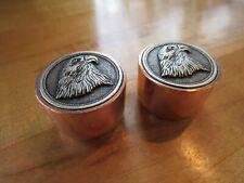 Eagle guitar knobs with copper sides.