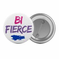 "Bi Fierce Badge Button Pin 1.25"" 32mm Bisexual Pride LGBT Bisexuality"