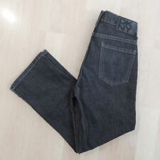 DKNY Black Oil Cloth Cropped Capri Skinny Jeans Womens Summer Patio Pants Sz 3