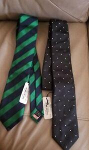 Ties Men's Neckties Thomas PINK Lot Of 2 NEW! 100 % Silk