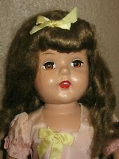 "Vintage Raving Beauty Hard Plastic Doll 19"" Strung- Open Mouth Beautiful!"