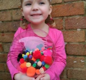 Decoration Gift Balloon - POM POM Fill Bubble - Sensory Dementia SEN Autism ADHD